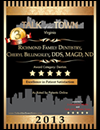 Dentist Richmond - Talk Town Award 2013