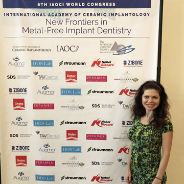 Dr Hart was at IAOCI world congress on metal free implant dentistry