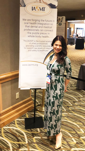 Dr. Olivia Hart was at the Annual conference of the IAOMT (Indianapolis)