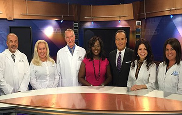 Dr. Hart at ABC Channel 12 during Oral Cancer Awareness week